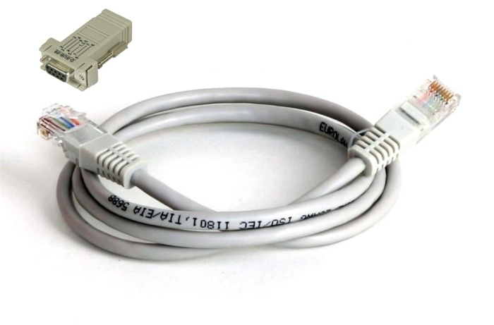 KABEL PC RS-232 / RJ45 DO KAS ELZAB
